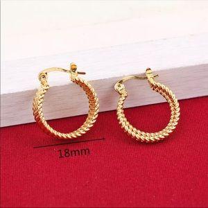 NEW 24 KT Gold Plating Hoop Earrings